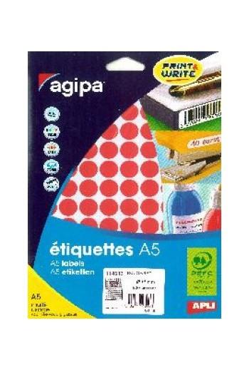 960 Etiquettes Diam15 Rouge