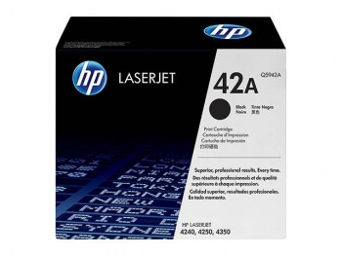 HP CARTOUCHE LASER NOIR 42A...
